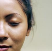 Woman Closing Eye